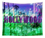 Hollywood Day And Night Tapestry