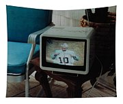 Holy Cow Phil Rizzuto Retired Yankee Number On 08 04 1985 Tapestry