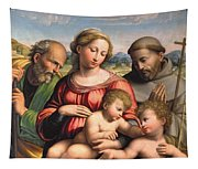 Holy Family With The Infant St. John The Baptist And St. Francis Tapestry
