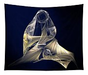 Holy Mother And Child Abstract II Tapestry