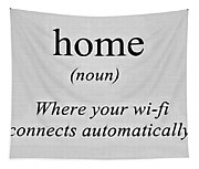 Home And Wifi Tapestry