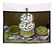 Home For The Holidays - Use Red-cyan 3d Glasses Tapestry