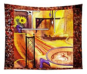Home Sweet Home Decorative Design Welcoming One Tapestry