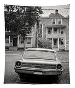 Hometown Usa Platium Print Tapestry