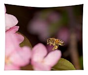 Honey Bee And Crabapple Tapestry