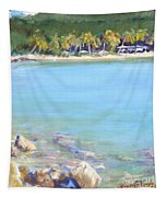 Honey Moon Beach Tapestry
