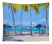 Honey Moon Beach Day Tapestry