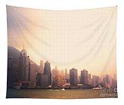 Hong Kong Harbour Sunset Tapestry