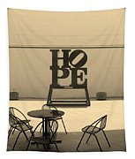Hope And Chairs In Sepia Tapestry
