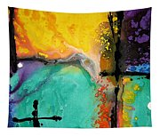 Hope - Colorful Abstract Art By Sharon Cummings Tapestry
