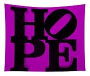Hope In Purple Tapestry