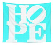 Hope Inverted Aquamarine Tapestry