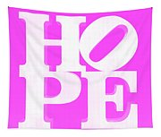 Hope Inverted Pink Tapestry