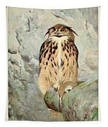 Horned Owl Tapestry