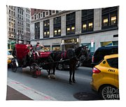 Horse And Carriage Nyc Tapestry
