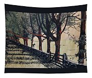 Horse And Fence Tapestry