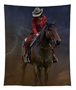 Horse And Rider Tapestry