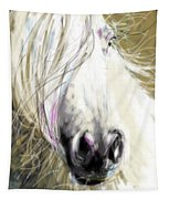 Horse Blowing In The Wind Tapestry