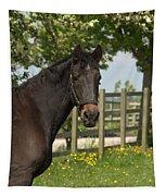 Horse In Spring Tapestry