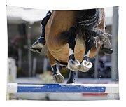 Horse Jumping Tapestry