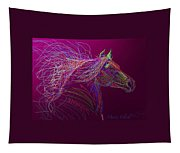 Horse Of Fire Tapestry