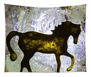 Horse On A Quartz Crystal Tapestry
