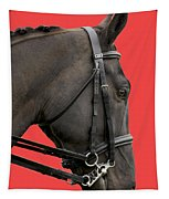 Horse On Red Tapestry