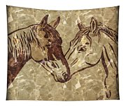 Horses On Marble Tapestry
