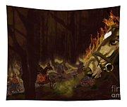 Horses On The Hillside Tapestry
