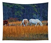 Horses On The March Tapestry