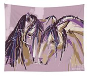 horses Purple pair Tapestry