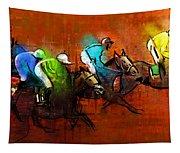 Horses Racing 01 Tapestry