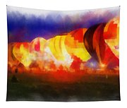 Hot Air Balloons Night Glow Photo Art 01 Tapestry