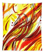 Hot Lines Twist Abstract Tapestry