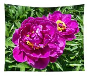 Hot Pink Peonies Tapestry