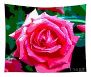 Hot Pink Rose Tapestry
