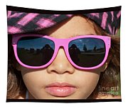 Hot Pink Sunglasses Tapestry