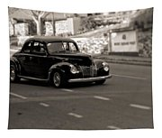 Hot Rod On The Street Tapestry