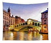 Hot Venetian Nights Tapestry