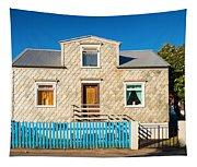 House In Akureyri Iceland Tapestry