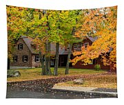 House Surrounded With Colors Tapestry