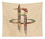Houston Rockets Logo Art Tapestry