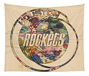 Houston Rockets Vintage Poster Tapestry