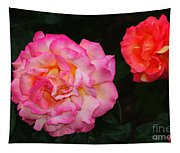 Huge Pink And White Rose...   # Tapestry