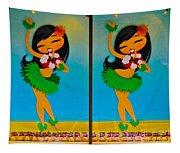 Hula Girls Tapestry