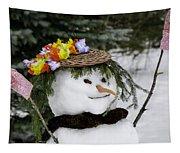 Hula Snowlady Tapestry