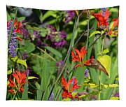 Hummingbird And Crocosmia Lucifer Tapestry