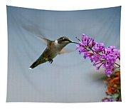 Hummingbird At Butterfly Bush Tapestry
