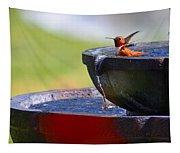 Hummingbird Bath Tapestry