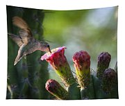 Hummingbird Breakfast Southwest Style  Tapestry